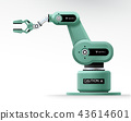 Industrial machine robotic hand arm machinery 43614601