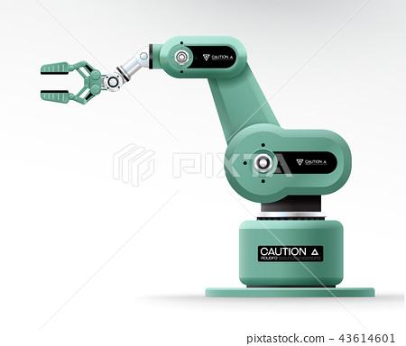 Industrial machine robotic hand arm machinery 43614601