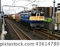 รถไฟบรรทุกสินค้าขับเคลื่อนด้วยตู้รถไฟไฟฟ้า 43614780