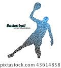 바구니, 농구, 공 43614858