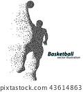 바구니, 농구, 공 43614863