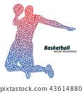 바구니, 농구, 공 43614880