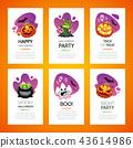 Halloween Greeting Cards Light Set 43614986