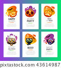 Halloween Greeting Cards Vibrant Light Set 43614987
