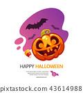 Happy Halloween Greeting Card with Pumpkin Jack 43614988