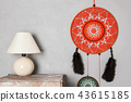 Dream catcher on gray background. 43615185