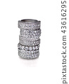 Cluster stack of diamond wedding engagment rings 43616295