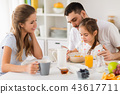 family, breakfast, eating 43617711