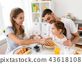 family, breakfast, eating 43618108