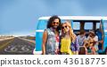 hippie couple over minivan on us route 66 43618775