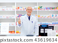 senior apothecary at pharmacy showing thumbs up 43619634
