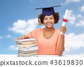 african graduate student with books and diploma 43619830