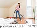 woman, cleaning, housework 43620795