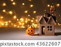 Halloween pumpkin with spider 43622607