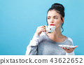 woman, cup, drinking 43622652