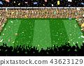 观众五彩纸屑体育场 43623129