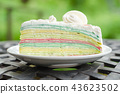Crepe cake rainbow and white chocolate 43623502