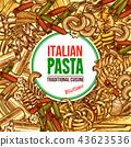 pasta italian vector 43623536