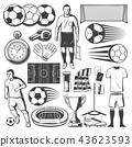 Football or soccer sport equipment vector symbols 43623593