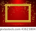 gold frame background 43623804