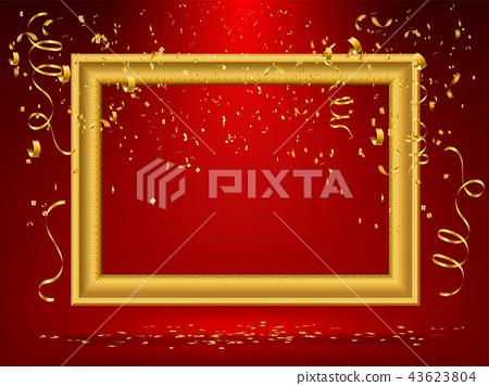 gold frame background 43623804