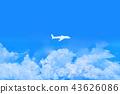 구름, 비행기, 하늘 43626086