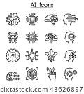 AI, Artificial intelligence icon set  43626857