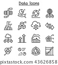 Data icon set in thin line style 43626858