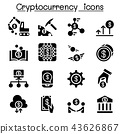 Cryptocurrency icon set 43626867