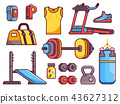 Gym and Fitness Icon Set 43627312