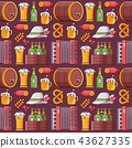 Beer Festival Seamless Pattern 43627335