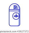 Mosquito Repellent Aerosol Bottle Icon 43627372