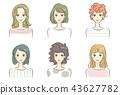 헤어스타일, 머리 스타일, 여성 43627782