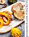 Meat steak with pumpkin 43628235