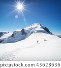 Trekking to the top of Mont Blanc mountain in French Alps 43628636