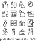 Vector beauty and cosmetic line icons set 43628920