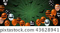 Halloween background with scary balloon design 43628941