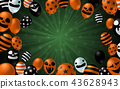 Halloween background with scary balloon design 43628943