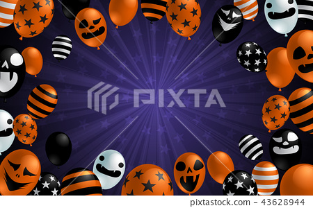 Halloween background with scary balloon design 43628944