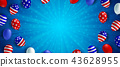 American flag balloon background poster banner 43628955