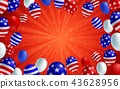 American flag balloon background poster banner 43628956