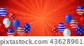 American flag balloon background poster banner 43628961