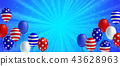 American flag balloon background poster banner 43628963