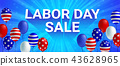 Labor day Sale American flag balloon poster 43628965