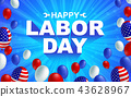 Happy Labor day American flag balloon poster 43628967