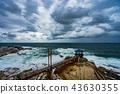 在風暴前夕的海灘 43630355