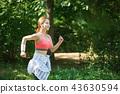 젊은여자, 달리기, 런닝 43630594