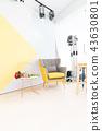 日本台湾室内居家床铺温馨沙发地毯椅子桌子台灯造景书桌抱枕木头地板木纹浪漫干燥花留白空白素材情侣家庭 43630801