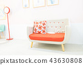 Japan Taiwan Indoor Home Bed Warm Sofa Carpet Chair Table Lamp Landscaping Desk Pillow Wood Floor Wood Grain Romantic Dry Flower Leave White Blank Material Lovers Family 43630808