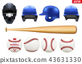 Big set of baseball equipment 43631330